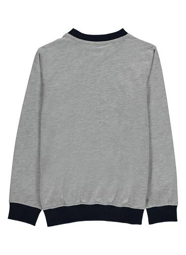 Morhipo Kids Baskılı Uzun Kol T-Shirt Gri